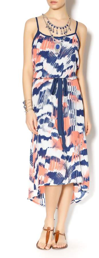 Double Zero Navy Melon Hi-Lo Dress