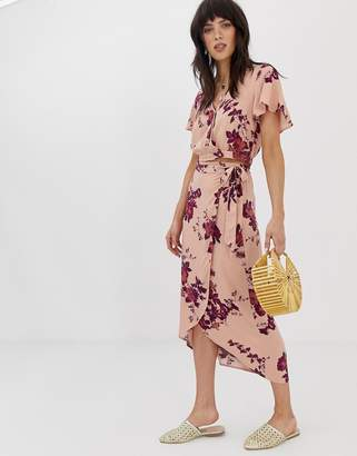 Band of Gypsies wrap skirt two-piece in floral print
