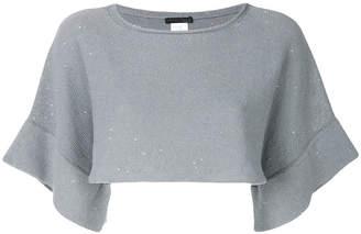 Fabiana Filippi cropped shortsleeved knitted blouse