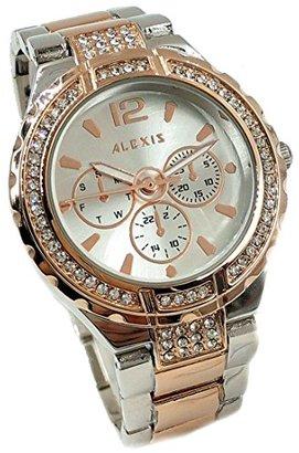 Alexis 10FW977B ローズゴールド+ PNPバンドウォーターレジストシルバーダイヤルレディース女性のブレスレットウォッチ
