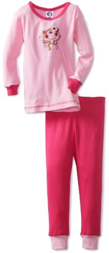 Gerber Baby-Girls Infant 2 Piece Monkey Top With Pajama Pant