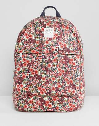 Jack Wills Backpack in Floral