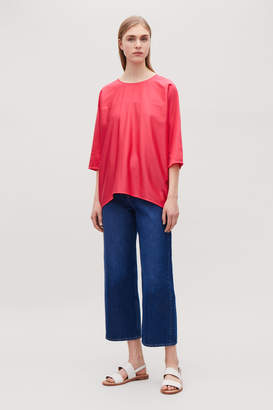 Cos SHORT-SLEEVED CONCAVE TOP