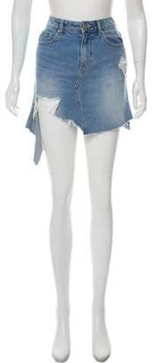 Sjyp Distressed Denim Skirt w/ Tags