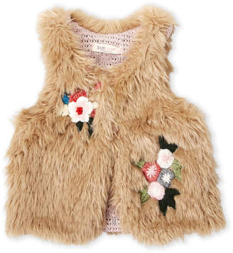 Baby Sara Girls 4-6x) Faux Fur Vest