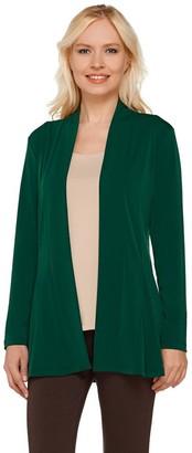 Susan Graver Liquid Knit Long Sleeve Open Front Cardigan