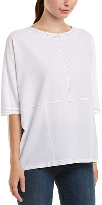 Glam Contrast Stitched Box Top
