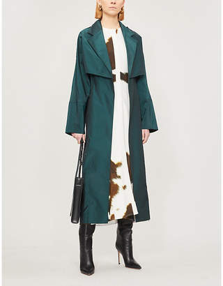 Victoria Beckham Belted cotton and silk-blend trench coat