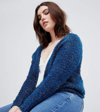 Asos Cardigan In Tinsel Yarn