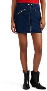 Rag & Bone Women's Cotton Denim Racer Miniskirt - Blue