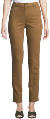 Lafayette 148 New York Thompson Colored Slim-Leg Jeans, Bronze