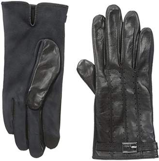 Adrienne Vittadini Women's Leather and Faux Suede Touchscreen Gloves $14.16 thestylecure.com