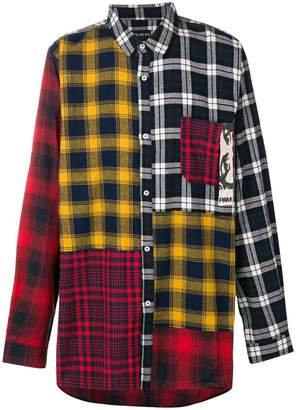 Perks And Mini Pam checked patchwork shirt