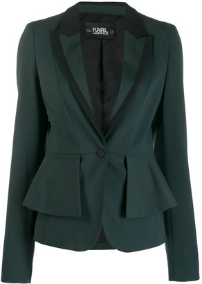 Karl Lagerfeld Paris layered peplum blazer