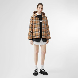 Burberry Vintage Check Lightweight Hooded Jacket