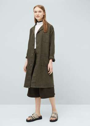MANGO OUTLET Linen trench $119.99 thestylecure.com
