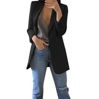 1ea69ced78e Amzeca Women Autumn Winter Long Sleeve Office Coat Cardigans Suit Long  Jacket Sweater Christmas