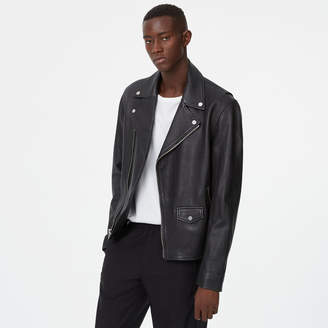 Club Monaco Leather Biker Jacket