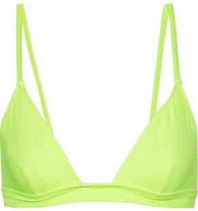 The Morgan Neon Triangle Bikini Top