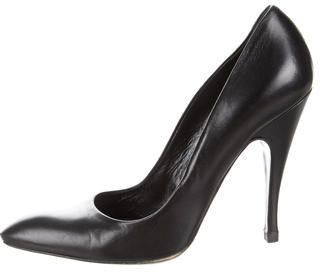 Balenciaga  Balenciaga Leather Pointed-Toe Pumps