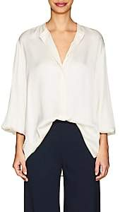 The Row Women's Maura Silk Blouse - Off White