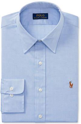 Polo Ralph Lauren Men's Slim-Fit Blue Solid Dress Shirt