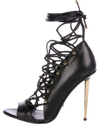 Tom Ford Leather Lace-Up Sandals