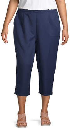 Alfred Dunner In the Navy Birdcage Cuff Capri - Plus
