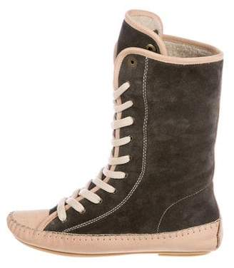 See by Chloe Lace-Up Moccasin Boots