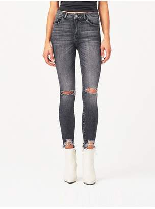 DL1961 Farrow Ankle High Rise Skinny | Light Smoke