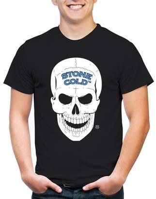 WWE Movies & TV Stone Cold Skull Big Men's Short Sleeve Graphic T-Shirt, 2XL