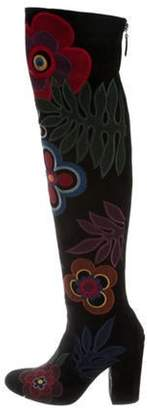 Laurence Dacade Embroidered Suede Boots Black Embroidered Suede Boots