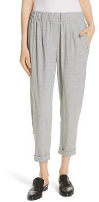 Eileen Fisher Slouchy Cotton Ankle Pants