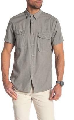 Save Khaki Short Sleeve Regular Fit Shirt