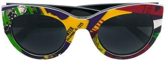 Versace Eyewear Vogue print sunglasses