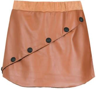 Andrea Bogosian panelled leather skirt