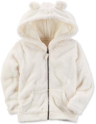 Carter's Faux-Fur Animal Ears Hoodie, Little Girls (2-6X) $34 thestylecure.com