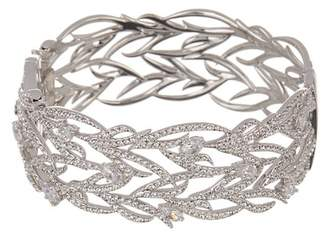 Nadri Sophia CZ Leaf Side Hinge Bracelet