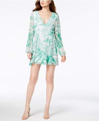 BCBGMAXAZRIA Palm-Print Shift Dress