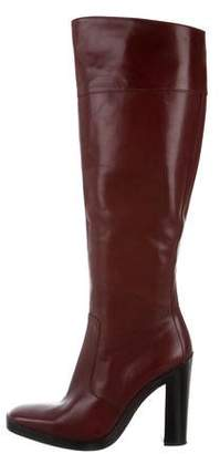 Balenciaga Leather Square-Toe Boots