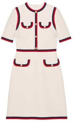 Gucci (グッチ) - ウェブ ウールシルク ドレス