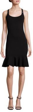 Polo Ralph Lauren Leather-Trim Suspender Dress $298 thestylecure.com