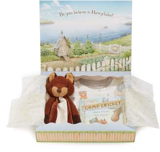 Bunnies by the Bay Foxy Sleepy Time Fitted Two-Piece Pajamas, Animal Buddy Blanket & Book Set