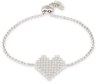 Silver Pixel Heart Bracelet