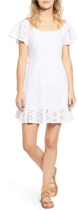 MinkPink All Your Own Broderie Anglaise Minidress