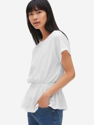 Gap Tie-Waist Short Sleeve Peplum T-Shirt