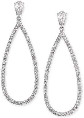 121271e90 Eliot Danori Silver-Tone Crystal Pear-Shaped Drop Earrings