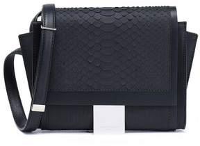 Maison Margiela Leather-Trimmed Python Shoulder Bag
