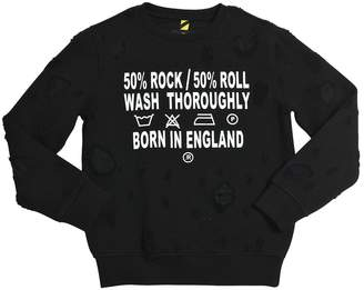 John Richmond Destroyed Cotton Sweatshirt
