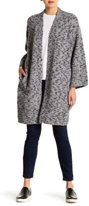 Vince Marled Knit Wool Blend Cardigan